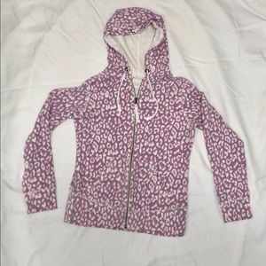 Lucy purple leopard print hoodie size large